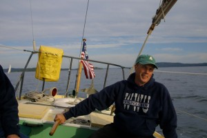 Skipper Ward Fay on the Aura in 2003