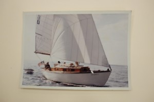 """Aura"" sailing, back in the day."