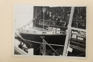 The last Blanchard 33 built, ready to launch, 1951. Credit MOHAI
